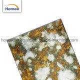Antike Entwurfs-Spiegel-Untergrundbahn-Fliese-dekorative Küche-abgeschrägte Bronzespiegel-Mosaik-Fliese