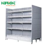 販売のために金属スーパーマーケットの棚の棚の陳列だなデザイン製造業者を広告すること