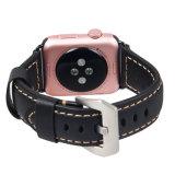 Iwatchのための贅沢でスマートな時計バンドスムーズな表面の革バンド
