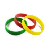 Venda por grosso diferentes personalizados pulseiras de silicone branco coloridos