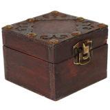 주문을 받아서 만들어진 고대 작풍 포도 수확 단단한 나무 상자