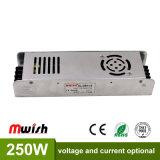 Une grande efficacité 250W 12V AC/DC intérieur Slim de puissance de LED Driver pour boîte à lumière