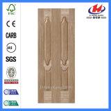 Piel natural de madera de la puerta de la chapa HDF de la cara de Gurjan (JHK-020)