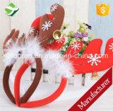 Cornamentas del reno de la Navidad en la venda para la alineada de lujo de la Navidad/la venda de la Navidad