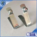 Tôle plate personnalisée, clip de forme de v d'acier inoxydable avec le bouton