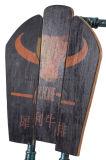 Stoel van het Metaal van de Pot van de barbecue de Hete Winkel Gespecialiseerde met Houten Achtereind