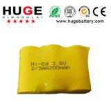 batteria Ni-CD di 3.6V 2/3AAA 200mAh