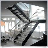 Escaleras rectas de la escala de la piedra de la escalera del paso de progresión de mármol moderno
