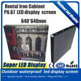 Precio al por mayor el acceso frontal P6 a todo color en el exterior del módulo LED de bajo precio P6 al aire libre servicio frontal LED
