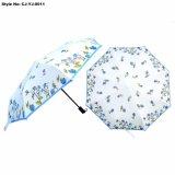 顧客用Foldind 3の折る女の子の花の傘