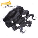 Frontal cru de lacet de cheveux humains de Remy de cheveux humains de 100%