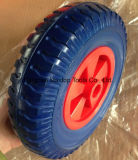 중국 단단한 고무 편평한 자유로운 PU 거품 트롤리 바퀴