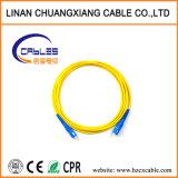 Cable de conexión de fibra monomodo Sc-Sc