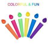 O Popsicle colorido do molde do Popsicle do fabricante do PNF do gelo do silicone molda (YB-ST-001)