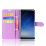 Luxe en cuir de PU du couvercle du carter de téléphone pour Samsung Note8
