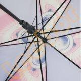 واضحة زاويّة بلاستيك [بو] مطر مستقيمة جدي مظلة