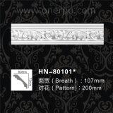 De Kroon die van de Kroonlijst van het Polyurethaan van het Afgietsel van het Plafond van Pu hn-80101 vormen