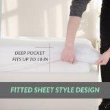 Экстракласс тюфяка ткани пользы гостиницы связанный полиэфиром водоустойчивый