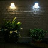 3 LED étanche extérieur clôture mur de lumière solaire Lampe pour l'escalier paysage Post Jardin