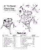 Трубопровод Tri-Stand цепь тиски для 1/8 - 6 дюймов (H401)