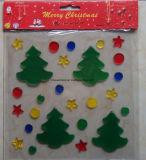 La navidad de la ventana Glitter Gel Jelly pegatinas Decoración de Navidad