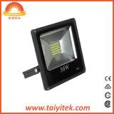 Luz de inundação quadrada impermeável ao ar livre 20W do diodo emissor de luz de Bk 30W 50W 70W 100W