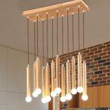 Lampada Pendant di legno E14 dell'asse del ristorante creativo nordico di arte