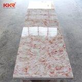 Painéis translúcidos de superfície contínuos de pedra artificiais da resina da decoração
