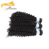 Alimina выделило индийский уток машины человеческих волос Remi