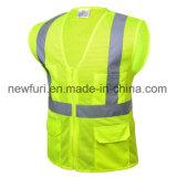 Светоотражающая лента ПВХ Workwear высокой вязкости безопасности одежды Майка безопасности