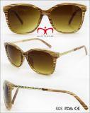 Мода металлические женщин солнечные очки с металлической храм (ПВС707948)