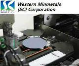 """西部MinmetalsのFZ NTDの単一水晶のシリコンの薄片2-6 """""""