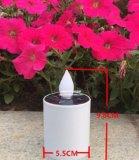 Décoration solaire de bougie de la lumière DEL