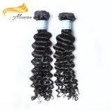 Cheveu 100% de bonne qualité d'Indien de Vierge de vente de Facotry de cheveu d'Alimina