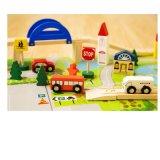 木の子供の教育都市柵の跨線橋の架橋段列トラックおもちゃ