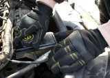 마포 저항하는 Anti-Vibration 합성 가죽 종려 기계 작업 장갑