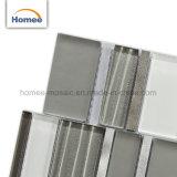 Irregularidad lineal Diseño esmerilado Backsplash mosaico de vidrio de Descuento de la decoración del hogar