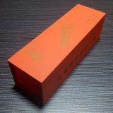 중국 공급자 주문 로고 자주색 자필 포일 우표 두꺼운 종이 사치품 MDF 나무로 되는 선물 상자