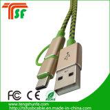 3 en 1 Cargador Cable USB con 8 clavijas /Micro/Type-C Contector