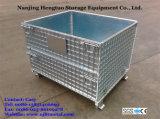 Складные и наращиваемые оцинкованной проволоки сетка контейнер для транспортировки поддонов для складских систем хранения данных