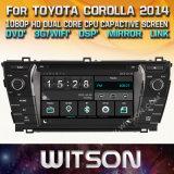 DVD van de Auto van de Vensters van Witson de Speler Van verschillende media voor de Bloemkroon 2014 van Toyota