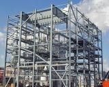 Edificio detallado de la estructura de acero del software de Tekla