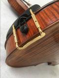 Violines hechos a mano del petróleo con Niza de la llama del arce la parte posterior encendido, cara, Neck&Scroll