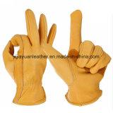 Protección de la mano de cuero guantes de seguridad del controlador de Mano de Obra