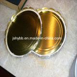 Goldener Lack-Zinnblech-Ring für Nahrungsmittelpaket und Geschenk-Paket