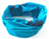 中国の工場農産物のカスタムロゴによって印刷されるMicrofiberの青く継ぎ目が無い多機能のスカーフ
