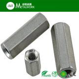 Longue noix Hex en acier inoxidable/galvanisée DIN6334 de la Manche