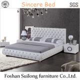 1103 실제적인 가죽 현대 침대