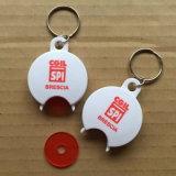 Chave de plástico personalizada Token da cadeia de dinheiro para a promoção