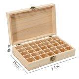 Compartimento separado botella de aceite esencial Mostrar almacenamiento titular de la caja de madera